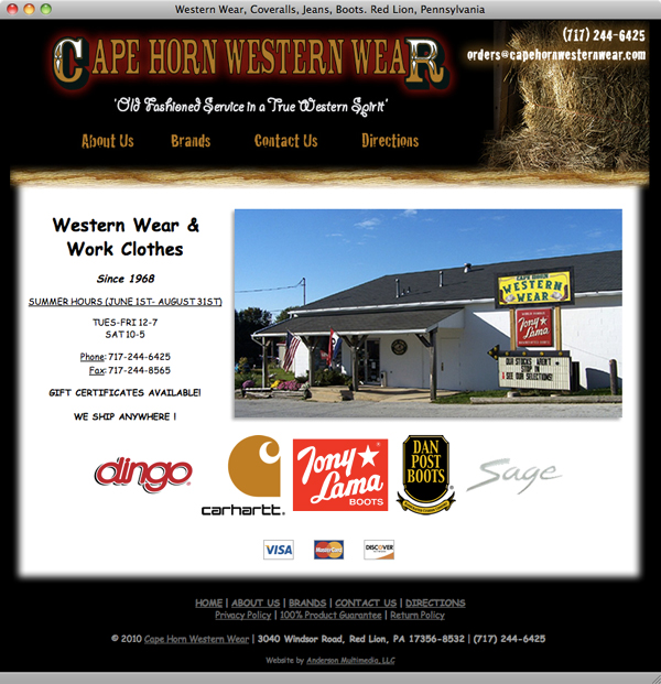 Cape Horn Western Wear website launched