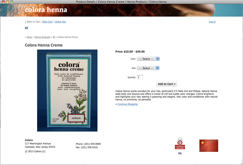 Anderson Launche E-Commerce Site for Colora Henna