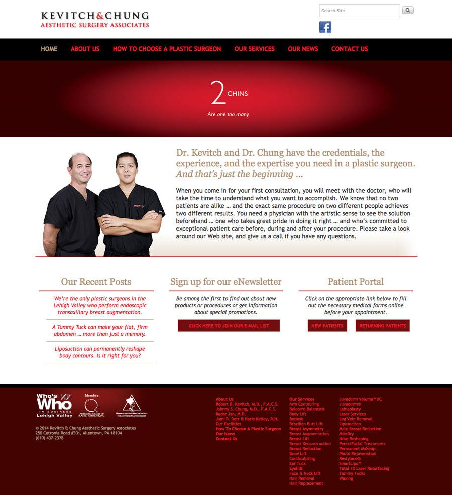 Aesthetic Surgery Associates Website Development