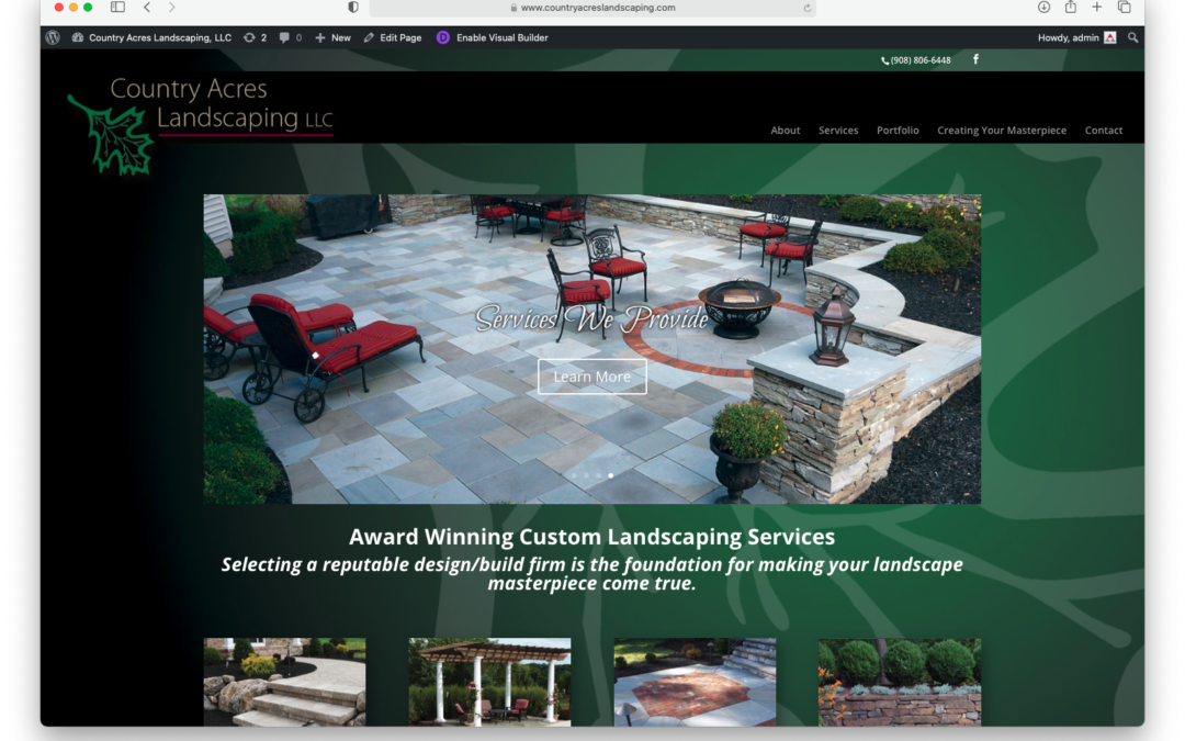 Rebuild of Country Acres Landscaping website