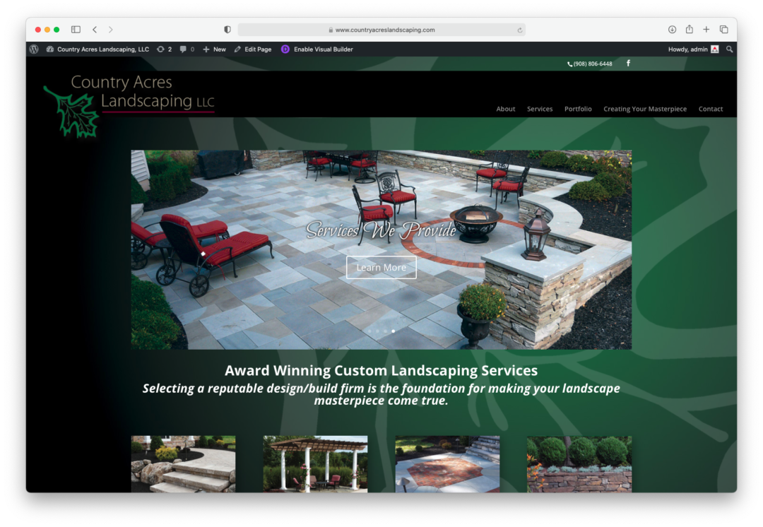Anderson Multimedia rebuilds Country Acres Landscaping website